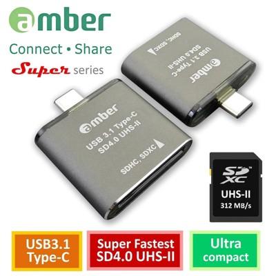 amber 超極速的SD4.0讀卡機OTG USB 3.1 Type-C to SD4.0 UHS- (5.8折)
