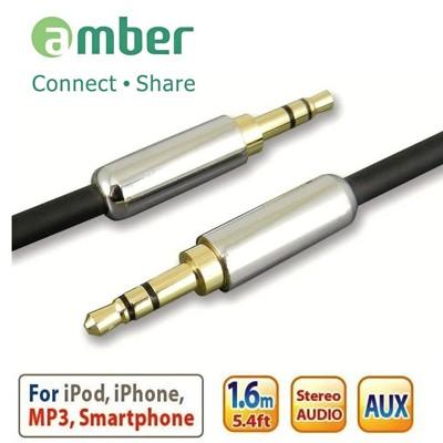 amber 鍍錫無氧銅3.5mm AUX Stereo Audio立體聲音源訊號線 (4.8折)
