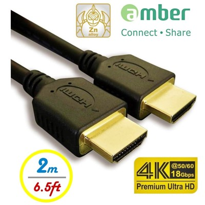 amber 4K2K HDMI 1.4認證高階影音線材,支援HDMI 2.0 -2M(公尺) (4.2折)