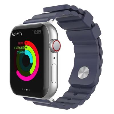 Apple Watch 專用矽膠錶帶 簡約款 柔軟矽膠不鏽鋼針扣 38~44MM AHASTYLE (7.4折)