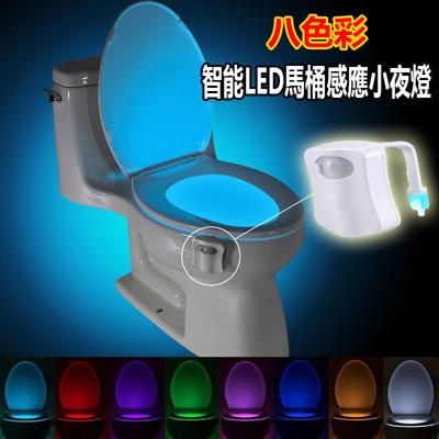 八彩智能LED馬桶感應小夜燈 (2.2折)