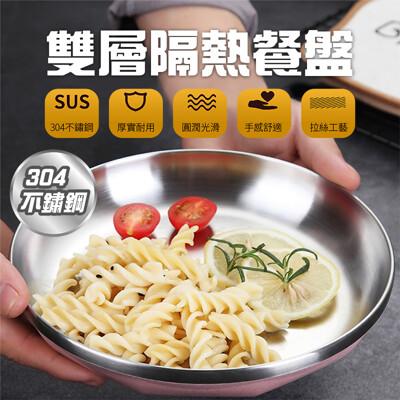 304不鏽鋼雙層隔熱餐盤 (5.6折)
