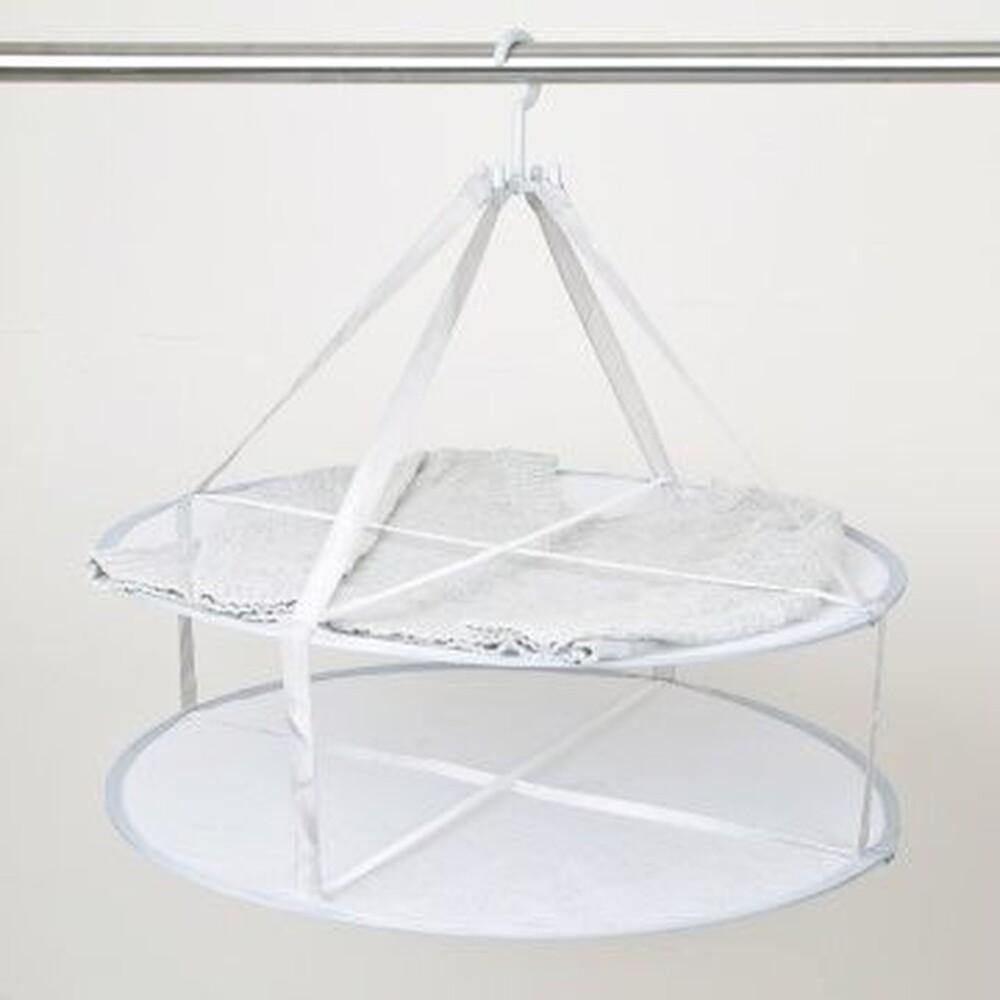 二層圓型曬衣網適合風乾 高級衣料 平放曬乾 曬衣架 吊掛網