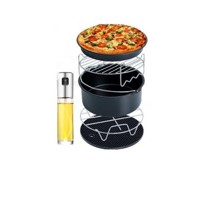 氣炸鍋超值6件套 氣炸鍋配件串燒架 飛利浦arlink 飛樂karalla科帥 米姿噴油瓶 烘烤鍋 (6.2折)