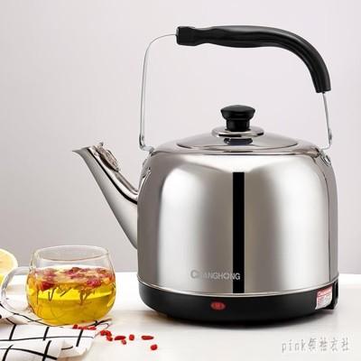 燒水壺電熱5l家用超大容量全自動斷電煮水吊子304不銹鋼器快 qf26846 - 銀色 (10折)