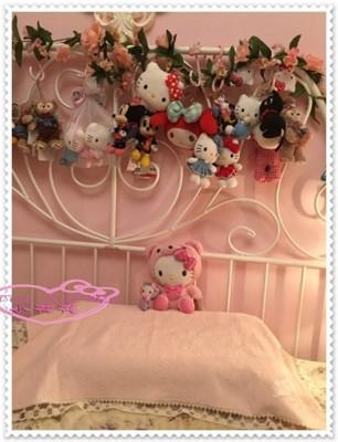 小花花日本精品 Hello Kitty 毛巾布 枕頭巾 粉色蕾絲玫瑰57003603 (8.4折)
