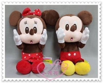 ♥小花花日本精品♥《Disney》迪士尼米奇娃娃布偶坐姿邊緣系列捧臉送禮首選 50123704 (5.6折)