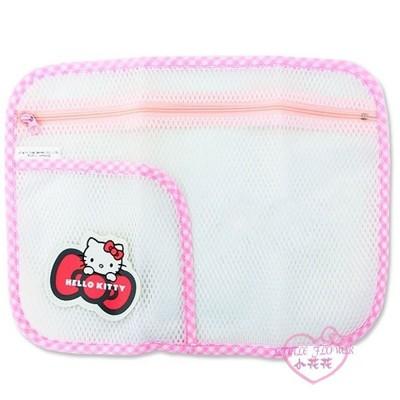 ♥小花花日本精品♥Hello Kitty 雙層小物網袋收納袋洗衣袋旅行袋網狀(L) 12025909 (5.6折)