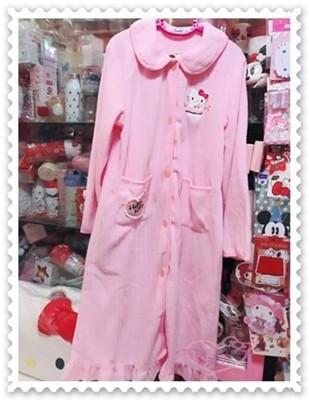 ♥小花花日本精品♥ Hello Kitty 保暖連身浴袍 睡袍 連帽 睡袍 32080001 (6.4折)