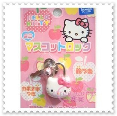 ♥小花花日本精品♥Hello Kitty迷你造型鎖頭安全鎖包包掛鎖防盜鎖附鑰匙兩支粉56773606 (2.4折)