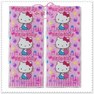 ♥小花花日本精品♥Hello Kitty 居家用品螺旋棉花棒 100支X6包 45608308 (7.8折)