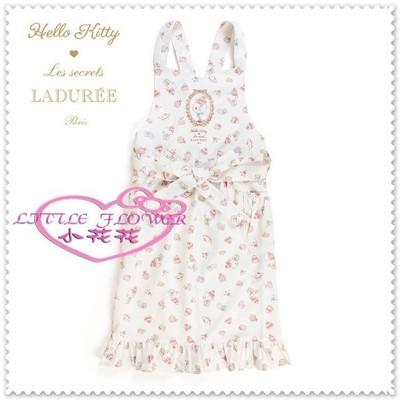 小花花日本精品♥ Hello Kitty LADUREE 清潔衣 圍裙工作服  89942208 (8.7折)
