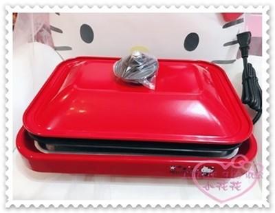 ♥小花花日本精品♥Hello Kitty 煎盤烤盤多功能式居家必備派對好物紅色附蓋子附電源線坐姿蝴蝶 (9.1折)