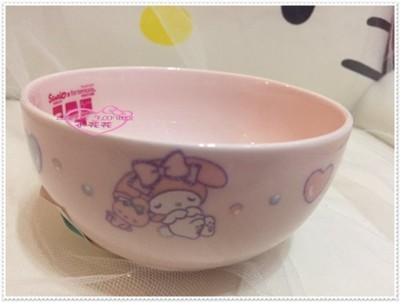 小花花日本精品♥ Hello Kitty 美樂蒂 湯碗 有手把陶瓷碗 飯碗 11271208 (6.9折)