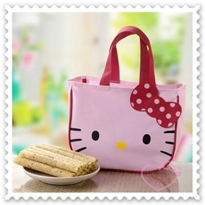 小花花日本精品♥ Hello Kitty 芝麻蛋捲禮盒手提袋年節送禮自用兩相宜(粉)99935009 (7.3折)