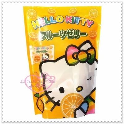 小花花日本精品♥Hello Kitty 浪速 日本 橘色 果凍 6個入 130g 90036309 (7.5折)