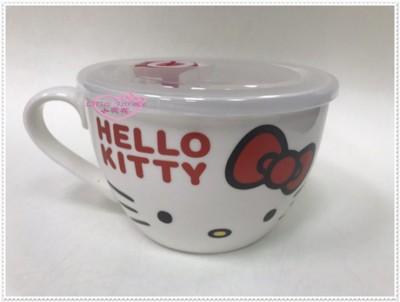 ♥小花花日本精品♥ Hello Kitty 微波湯杯 陶瓷杯 飯碗 33178806 (6.9折)