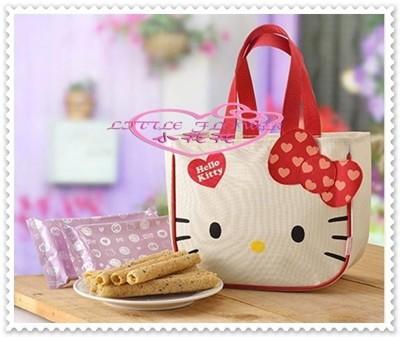 小花花日本精品♥ Hello Kitty 芝麻蛋捲禮盒 90113208 (7.3折)