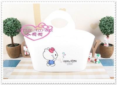小花花日本精品♥ Hello Kitty 手提籃 置物籃/菜籃 34078303 (6.5折)