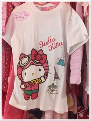 小花花日本精品♥ Hello Kitty 上衣 短袖 T恤 機場限定 M 10408308 (8.7折)