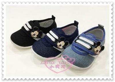 ♥小花花日本精品♥ 《Disney》迪士尼 米奇兒童布鞋 休閒鞋 魔鬼氈 藍色 台灣製117215 (5.3折)