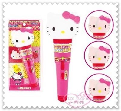 ♥小花花日本精品♥ Hello Kitty 粉色大頭 麥克風兒童玩具蝴蝶結聲光效果50014408 (6.7折)