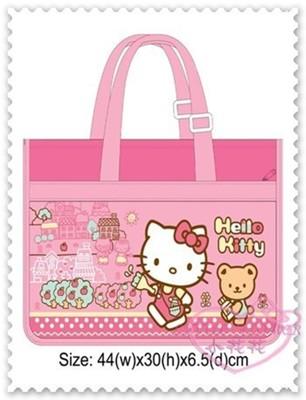 ♥小花花日本精品♥Hello Kitty 畫板袋置物袋收納袋外出袋手提袋肩背袋粉色 42028109 (4.3折)