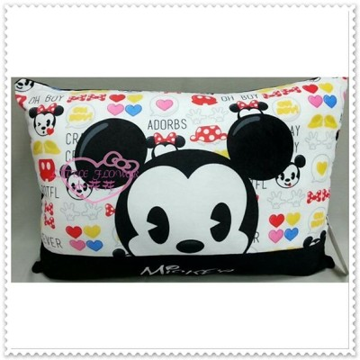 小花花日本精品♥米奇 Mickey 黑色 滿滿圖 大枕頭 中型抱枕 (共兩款) 12335701 (6.4折)