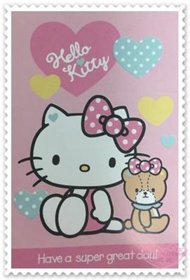 ♥小花花日本精品♥Hello Kitty熊熊愛你 刷毛毯 毯被 冷氣被 毛毯 蓋毯 冬天必備 (5折)