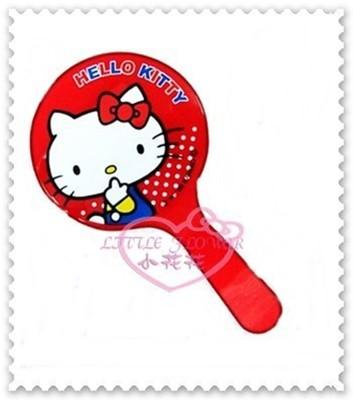 ♥小花花日本精品♥Hello Kitty 鏡子手拿鏡隨身鏡隨身手拿鏡坐姿紅色日本限定57031606 (4.8折)