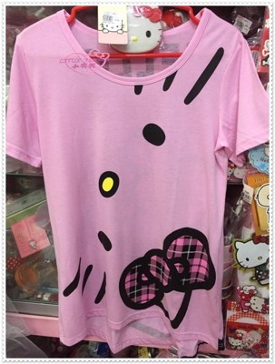 ♥小花花日本精品♥ Hello Kitty T恤 短袖上衣 長版棉T上衣 10406908 (8.4折)