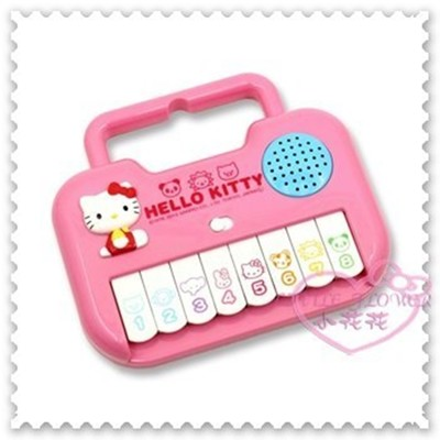 ♥小花花日本精品♥Hello Kitty 玩具兒童玩具鋼琴電子琴坐姿立體造型日本限定 (5.8折)