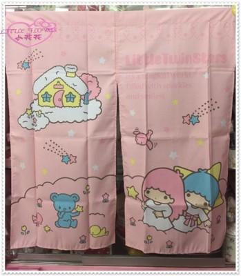 小花花日本精品 Hello Kitty 雙子星 長門簾 櫃簾子窗簾 33058108 (8.6折)