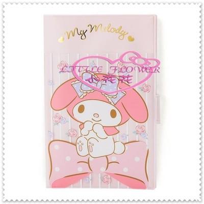 小花花日本精品♥ Hello Kitty 美樂蒂 卡片名片夾 粉色玫瑰 57009506 (5折)