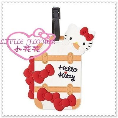 小花花日本精品Hello Kitty軟質矽膠可調整 立體行李掛牌吊牌 趴姿行李箱造型42141709 (5.6折)