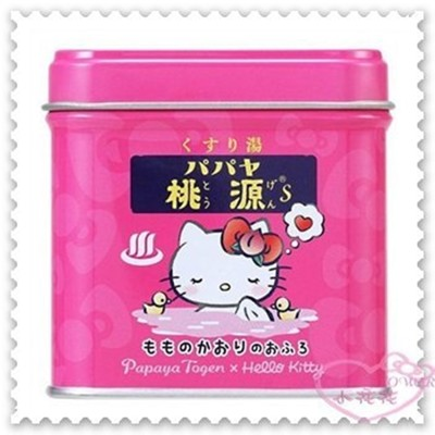 小花花日本精品♥Papaya Togen x Hello Kitty品牌合作 入浴劑 泡澡 日本限定 (2.7折)