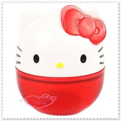 ♥小花花日本精品♥Hello Kitty臉頭迷你 削鉛筆機 攜帶型 62017305 (5折)