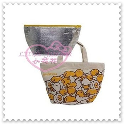 ♥小花花日本精品♥Hello Kitty 蛋黃哥GUDETAMA提袋手提袋外出袋袋中袋滿版圖趴姿 (4.4折)
