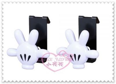 ♥小花花日本精品♥Hello Kitty Disney迪士尼米奇手掌造型掛勾萬用勾置物勾衣物勾兩入組 (4.6折)