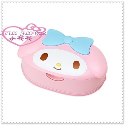 小花花日本精品♥ Hello Kitty 日本製 美樂蒂 造型 寶寶用濕紙巾盒 45623509 (7.8折)