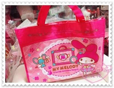 ♥小花花日本精品♥Hello Kitty 美樂蒂畫板袋收納袋手提袋肩背袋購物袋防水 41093108 (3.9折)