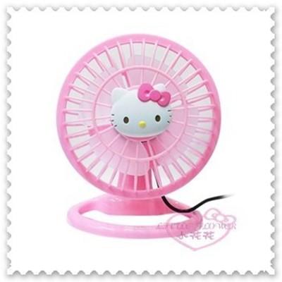 ♥小花花日本精品♥ Kitty風扇 桌上型風扇 USB桌上型風扇 小風扇 粉23002401 (3.9折)