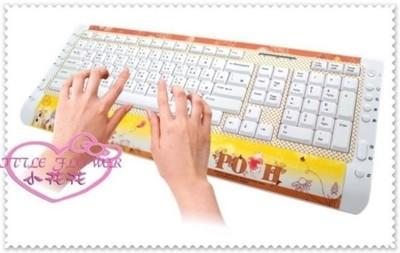 ♥小花花日本精品♥ Hello Kitty 小熊維尼 晶彩多媒體超薄USB 鍵盤 21032202 (4.3折)