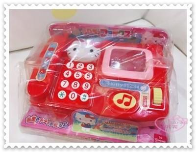 ♥小花花日本精品♥ Hello Kitty 電話玩具 音樂鈴 鈴聲 兒童玩具 紅色 88609300 (8折)