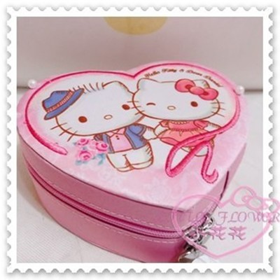 ♥小花花日本精品♥Hello Kitty Daniel丹尼爾珠寶盒首飾盒飾品盒粉色11303800 (4.4折)