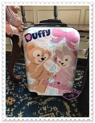 ♥小花花日本精品♥《Disney》迪士尼 達菲熊 雪莉玫 20吋行李箱 登機箱 香港限定 (8.3折)