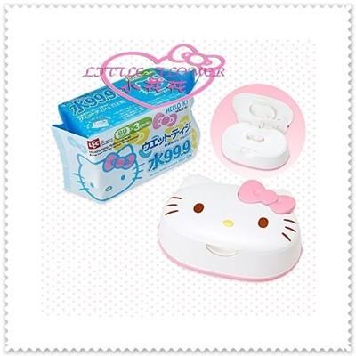 小花花日本精品♥ Hello Kitty 日本製 造型濕紙巾盒 寶寶用濕紙巾盒45623400 (7.8折)