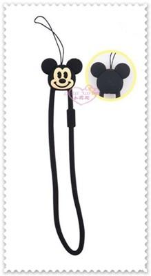♥小花花日本精品♥《Disney》迪士尼 米奇 手機掛繩 矽膠掛繩 票卡掛繩 短掛繩00415002 (4.9折)