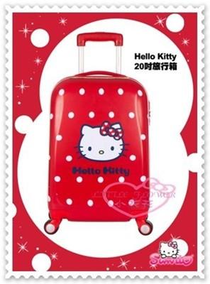 ♥小花花日本精品♥ Hello Kitty 行李箱 拉桿箱 旅行箱 20吋 耐撞 萬向輪 紅色 (7.5折)