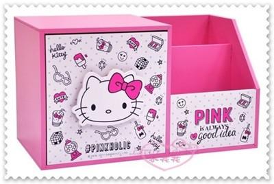 ♥小花花日本精品♥Kitty收納櫃 置物櫃 單抽收納櫃 多功能收納櫃 粉 12038404 (6.4折)